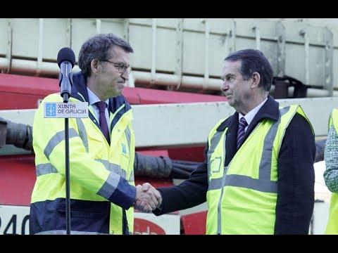 Feijóo y Caballero visitan las obras del complejo ferroviario, comercial y viario de Vigo-Urzaiz