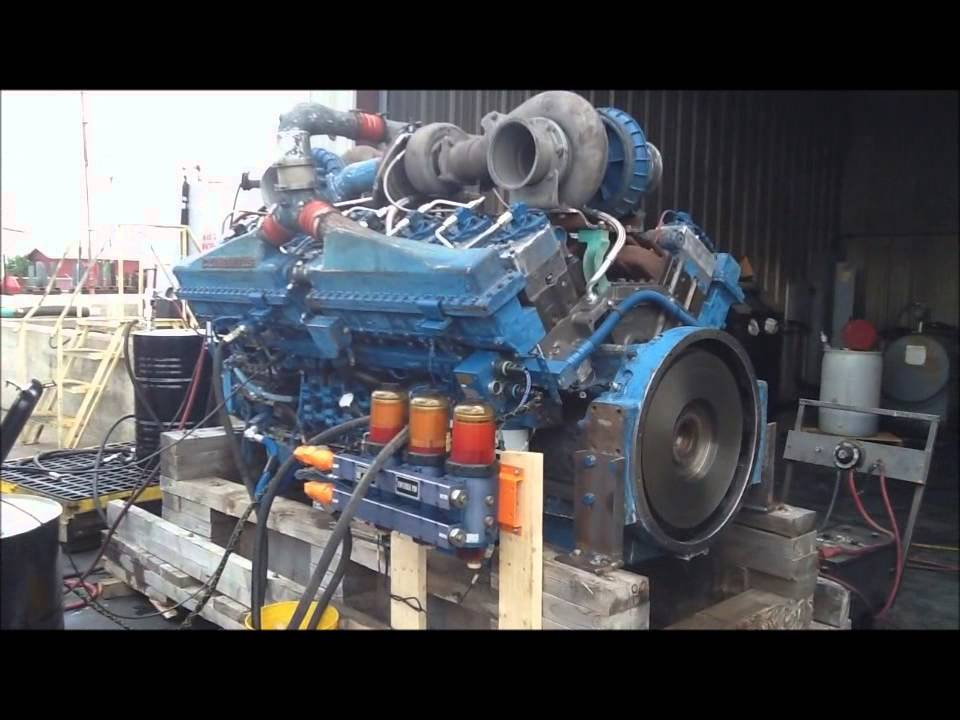 Cummins Turbo Diesel >> Cummins QSK50 Rebuild Run Test - YouTube