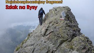 Najniebezpieczniejszy fragment szlaku na Rysy