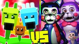 """""""PLANTS VS ZOMBIES"""" VS """"FNAF FIVE NIGHTS AT CANDY"""