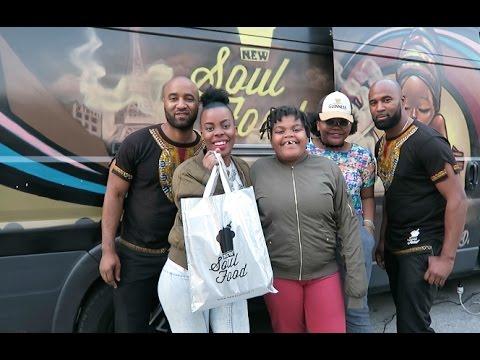 """Dégustation plat afro- caribbéen NEW SOUL FOOD"""" truck à Paris #sakinafamily6"""