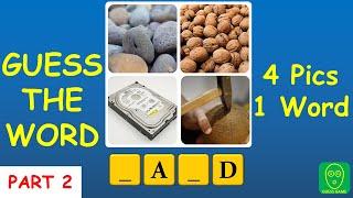 4 Pics 1 Word पहेली - भाग 2: इस 4Pics1Word गेम में शब्द का अनुमान लगाएं screenshot 1