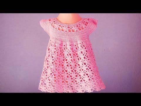 Vestido De Flores A Crochet Para Niña Muy Fácil Y Rápido Ganchillo Crochet