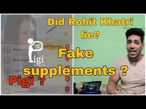 IS PIGI DELIVERING ORIGINAL/AUTHENTIC SUPPLEMENTS? Was Rohit Khatri right? Fake supplements? India.