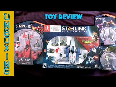 UNBOXING! Starlink: Battle for Atlas Nintendo Switch Toy Review - Starfox, Arwing and More!