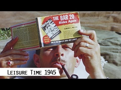 Leisure Time For The G.I. In 1945 (in Color And HD)