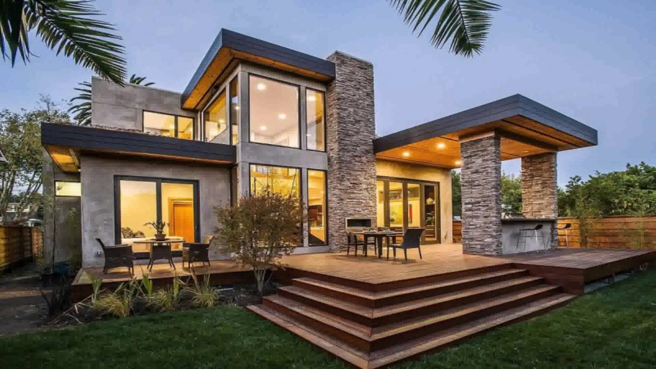 Contemporary house style definition youtube for Modern style homes