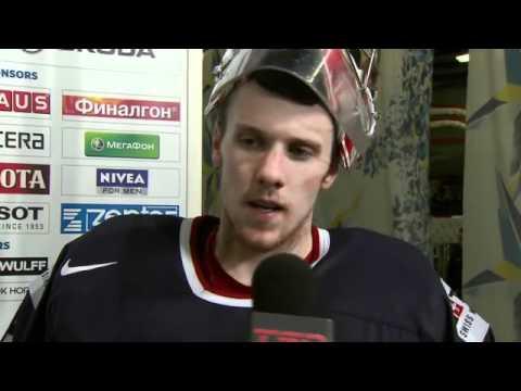Jimmy Howard Postgame Interview vs. Finland – 2012 IIHF Ice Hockey World Championship