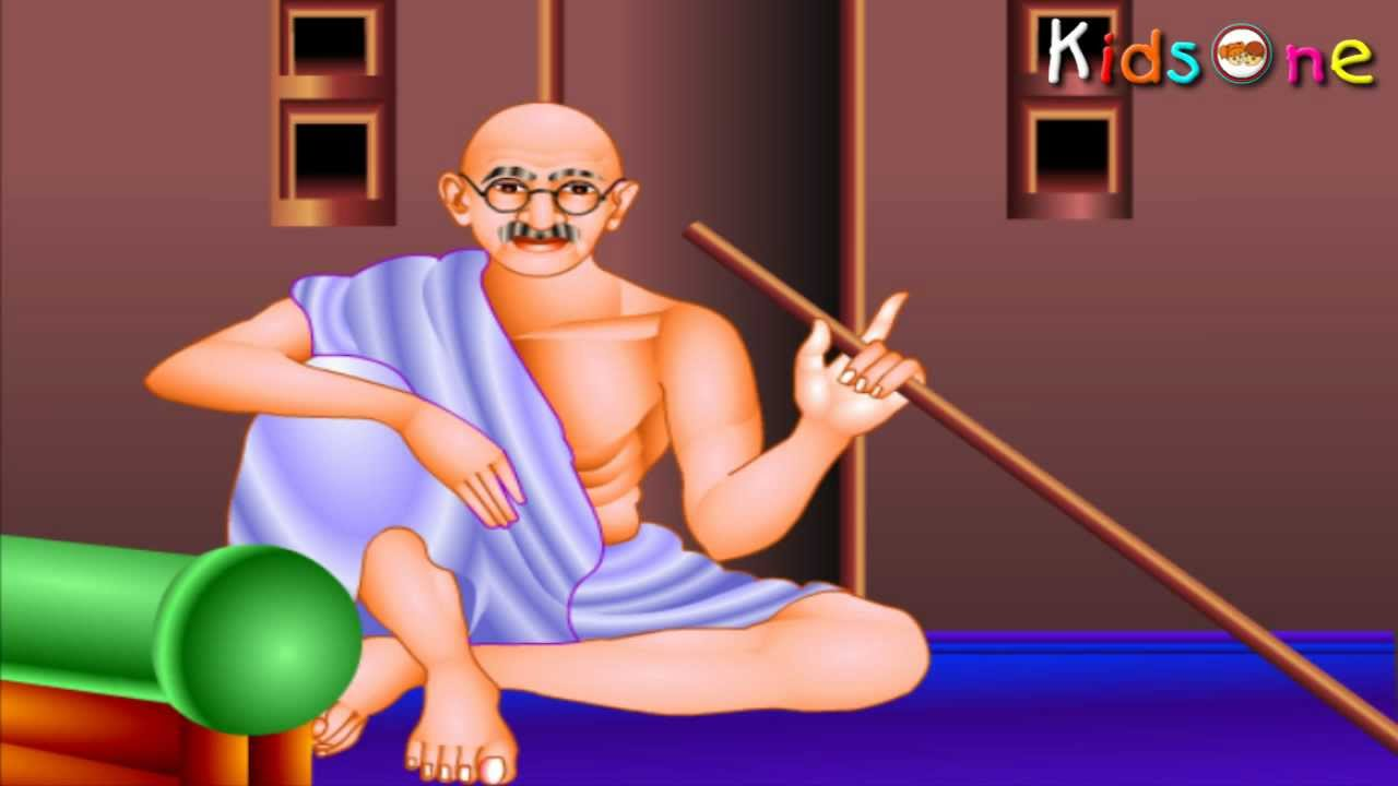 Indian Heroes  Gandhiji Life History In Tamil  With Animation