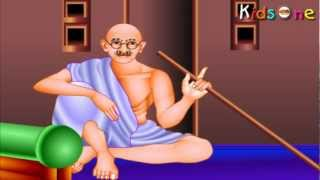 Indian Heroes - Gandhiji Life History In Tamil - with Animation