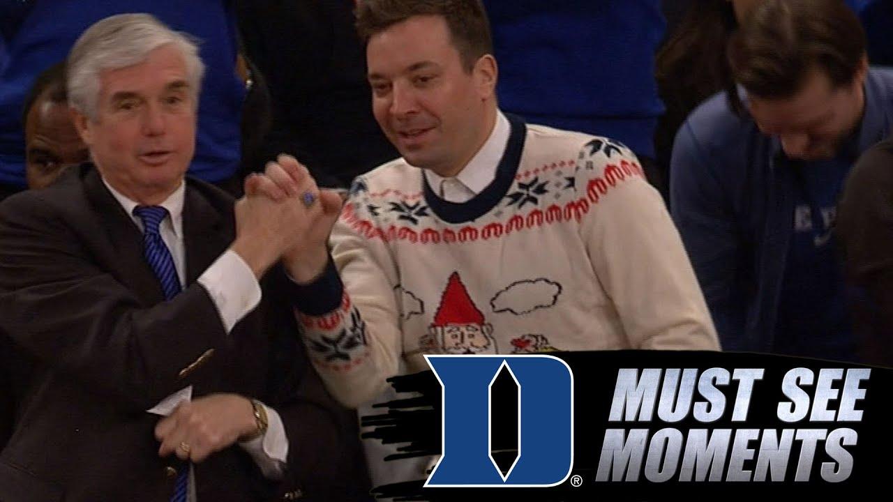 Jimmy Fallon Loves Duke Basketball in Ugly Christmas Sweater - YouTube