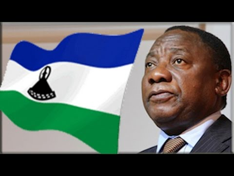 Ramaphosa addresses the media on security-related matters in Maseru