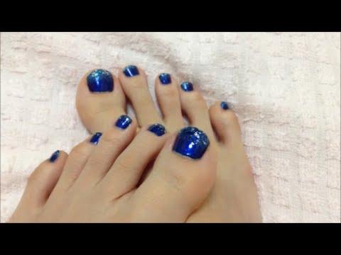 自分で簡単にできるネイル♡夏の浴衣やサンダルに easy nail art for beginners/辻が花 , YouTube