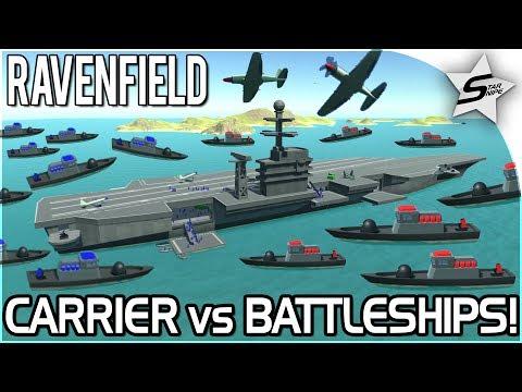 RAVENFIELD EPIC NEW BATTLESHIPS v AIRCRAFT CARRIER BATTLE! - NEW Ravenfield Map - Beta 6/Steam