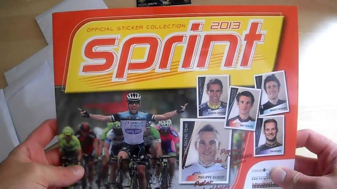 04d7ced94a0 SPRINT 2013 ALBUM STICKERS COLLECTION PANINI - YouTube