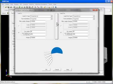 SURFCAM Tutorial - 3-Axis Multi-Cut: Toolpath Creation Sequence