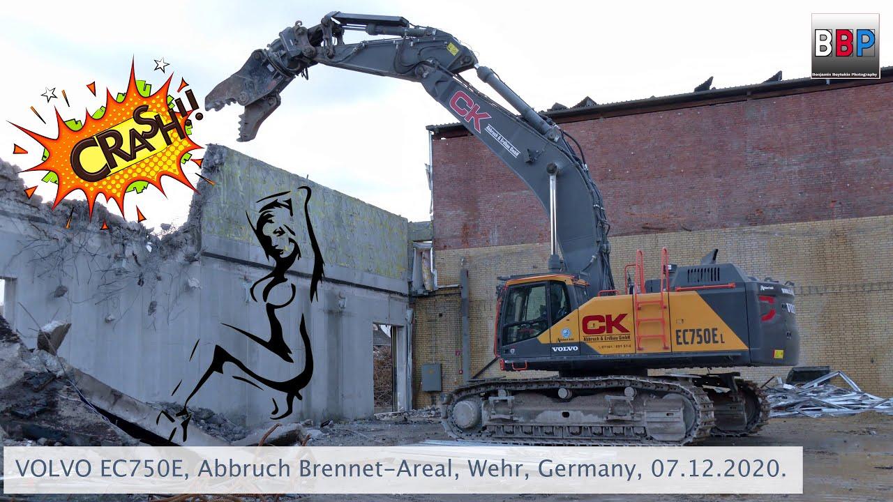 Download VOLVO EC750E, Abbruch / Demolition, Brennet-Areal, Wehr, Germany, 07.12.2020.