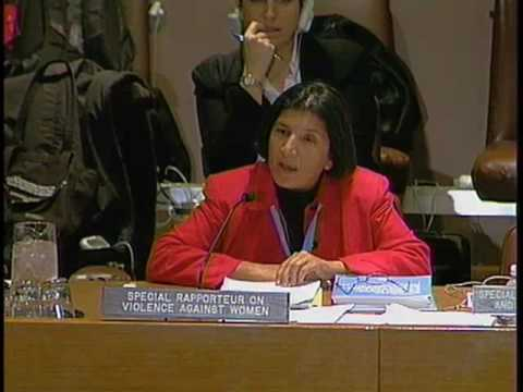 Special Rapporteur on violence against women, its causes and consequences