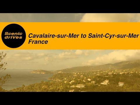 [SLOW TV] France - Côte d'Azur / French Rivera - Cavalaire-sur-Mer to Saint-Cyr-sur-Mer