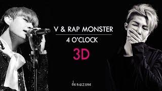 Video [3D+ENG LYRICS] BTS RAP MONSTER & V -  4 O'CLOCK  (네시) (Use Headphone) download MP3, 3GP, MP4, WEBM, AVI, FLV Juli 2018