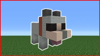 Minecraft Tutorial: How To Make A Cute Dog Statue