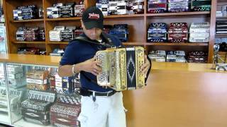 Jaime showcasing his New Gabbanelli Italian Wood M101