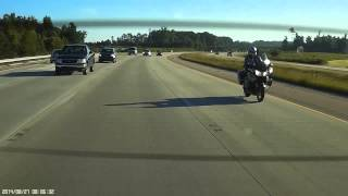 North Carolina State Trooper Motor Officer Caught Speeding