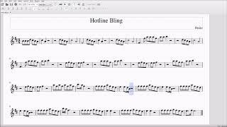 Hotline Bling for Alto/Bari Sax Sheet Music