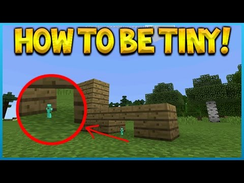 HOW TO BE TINY IN MINECRAFT POCKET EDITION!