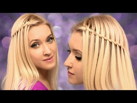 Waterfall braid hairstyle for medium/long hair tutorial ✿ For beginners, on yourself