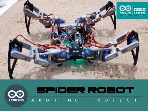 Arduino Spider Robot (Quadruped)