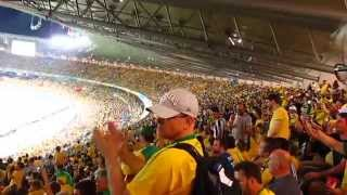 Germans sing and get Brazilian supporters applause