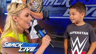 Sarah Schreiber hosts an impression contest: SmackDown Exclusive, July 16, 2019