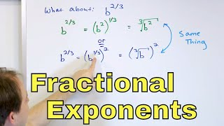 01 - Simplify Ratİonal Exponents (Fractional Exponents, Powers & Radicals) - Part 1