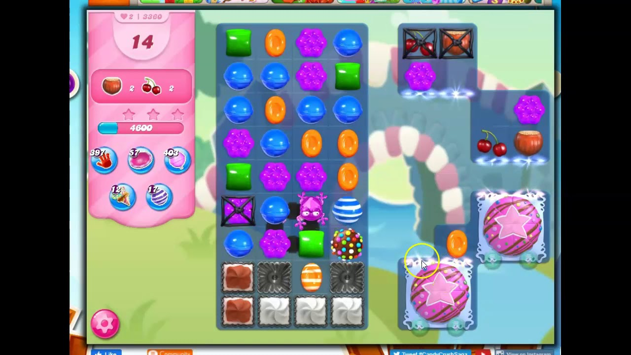 Download Candy Crush Level 3360 Talkthrough, 20 Moves 0 Boosters