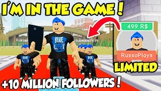 BUYING MY OWN CHARACTER In FAME SIMULATOR And GETTING 10 MILLION FOLLOWERS!! (Roblox)