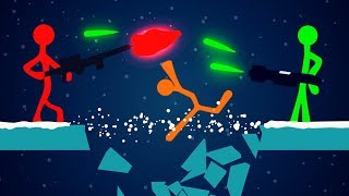 ICE ONLY WEAPON CHALLENGE! (Stick Fight Funny Moments)