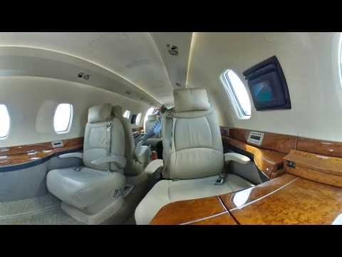 Cessna Citation X interior 360 video from JetOptions Private Jets
