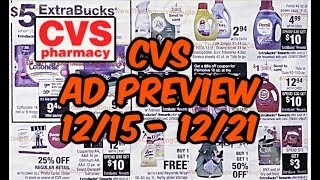 CVS AD PREVIEW 12/15 - 12/21 | CHEAP HAIR CARE,  PAPER PRODUCTS, AND MORE!