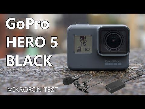 GoPro Hero 5 Black kutu açılımı | İnceleme | Mikrofon çeşitleri testi
