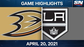NHL Game Highlights | Ducks vs. Kings - Apr. 20, 2021
