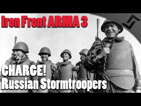 Iron Front ARMA 3 - CHARGE! - Russian Stormtroopers - Tank Support! - CQB vs Tiger's & Panthers