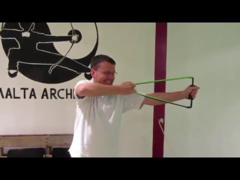 Archery in Valletta: Shad is testing the new bow trainer