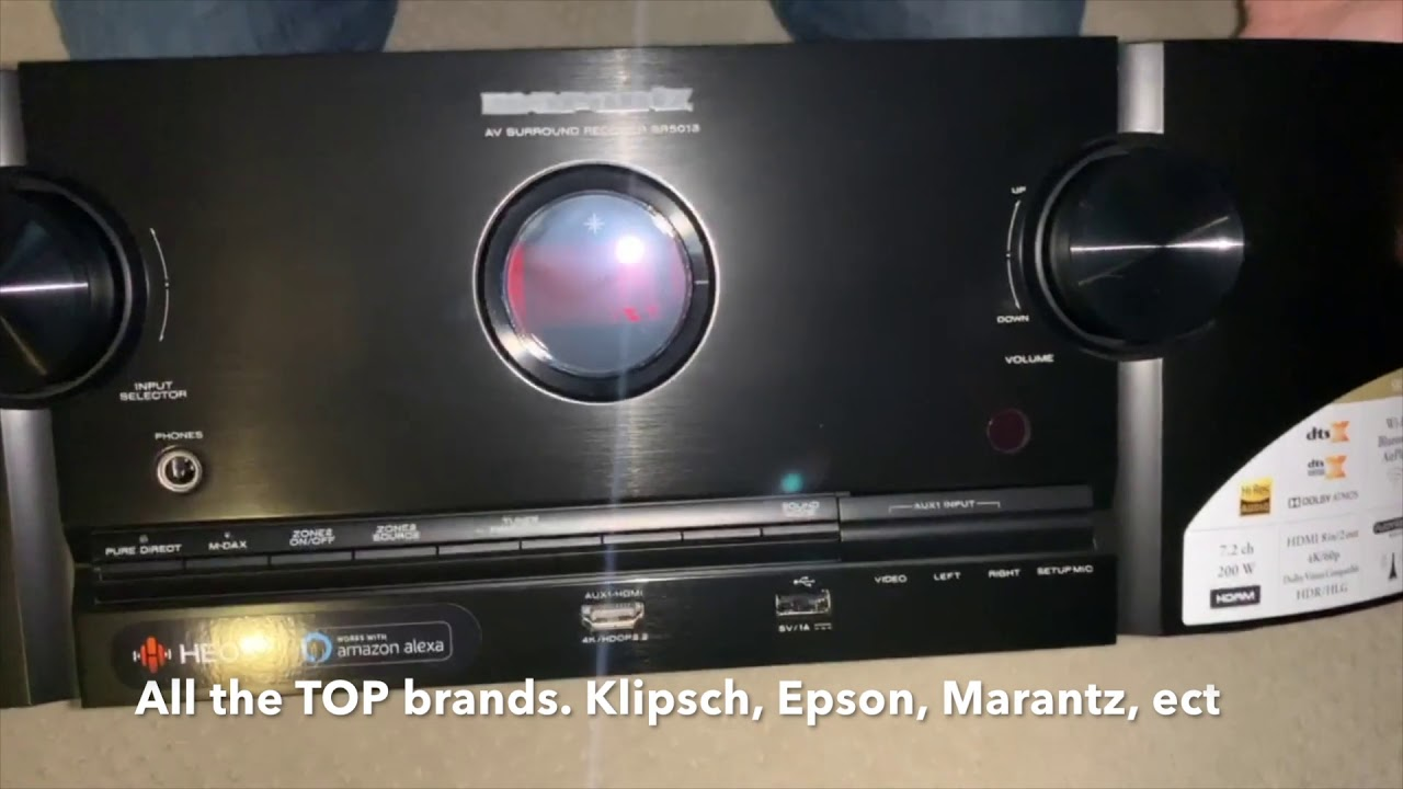 UNBOXING Marantz SR5013 7 2 channel Receiver by Dreamedia in Frisco Texas