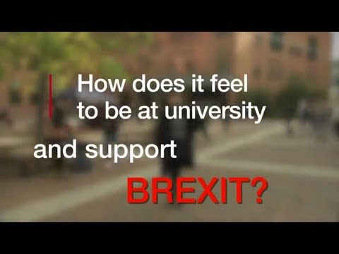 How does it feel to be at university and support Brexit?