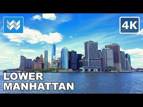 Walking from World Trade Center to Wall Street in Downtown Manhattan, New York City 【4K】