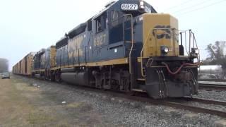 CSX Train Taking Off Nice Train Horn Sound