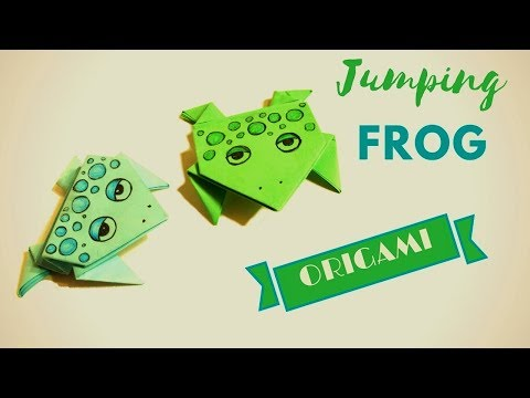 Origami jumping Frog  How To Make a Paper Frog! - Hand made