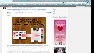 How to Add a Pinterest Pin Board to Your WordPress Blog