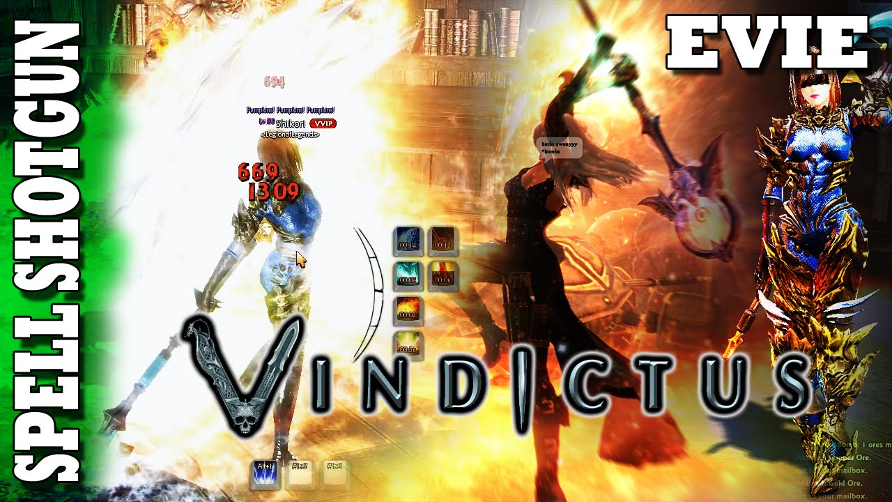 Vindictus - Quick Tips - Evie Staff : Spell Shotgun!